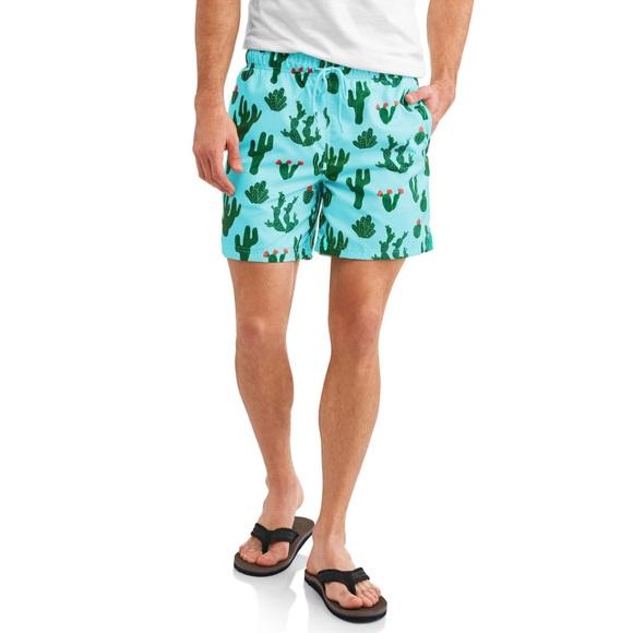 76f5614ae1 George Swim | Big Mens Printed Trunk Prickly Cactus | Poshmark
